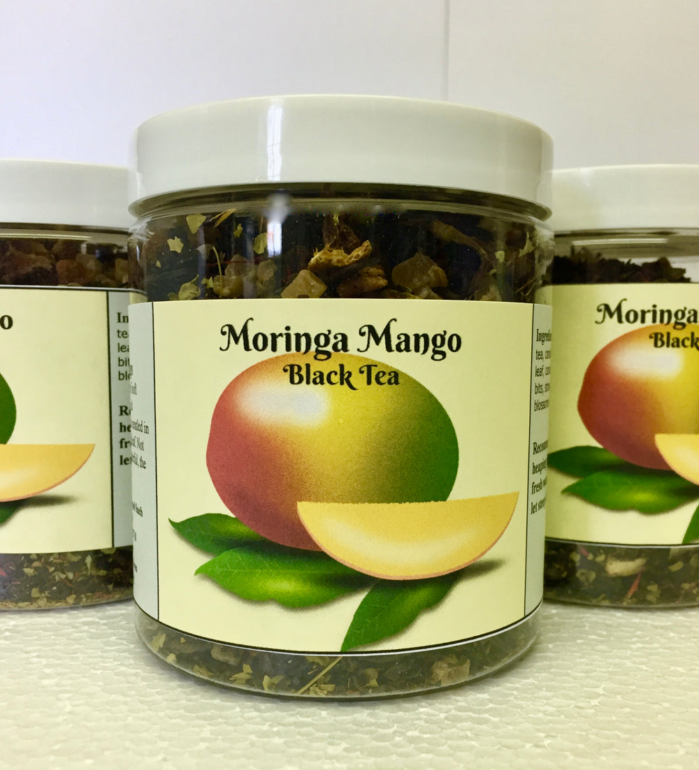 Our new tea that is adding to our collection of Moringa based teas