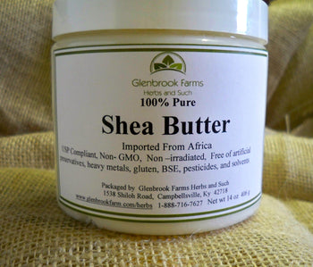 shea butter in a container