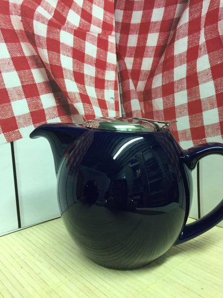 dark blue teapot