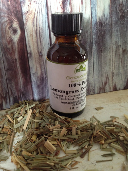 lemongrass essential oil bottle