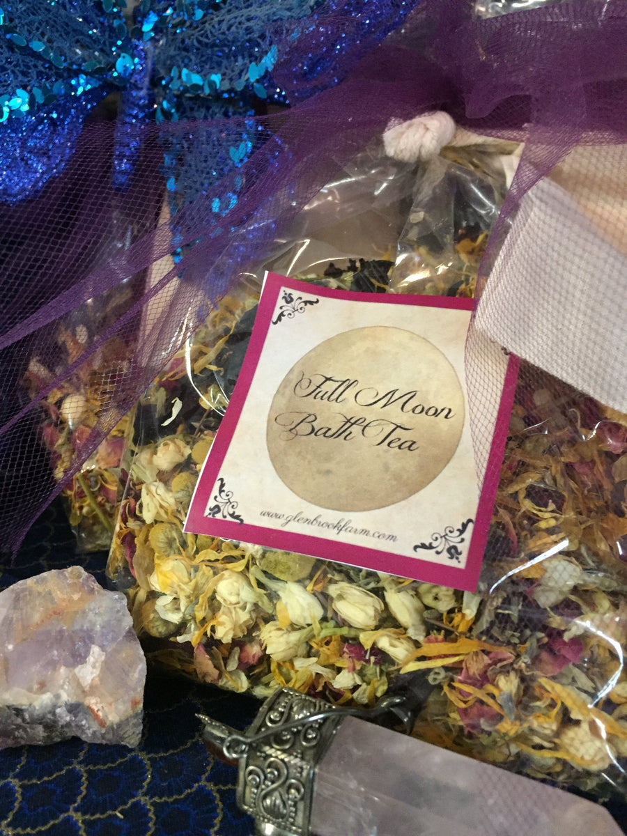 dried herbs bath tea