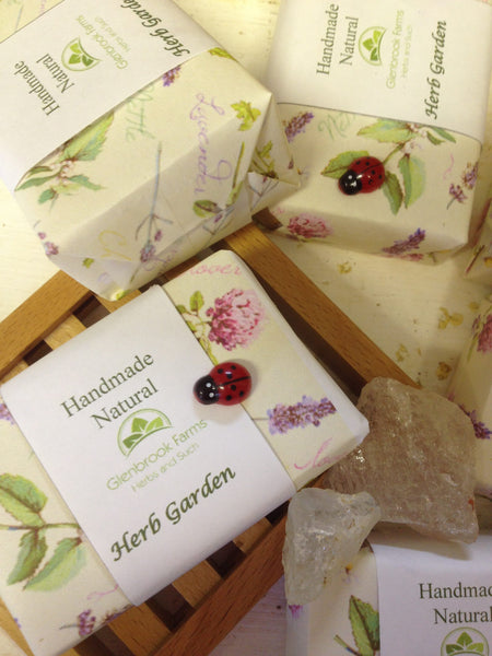 herb garden soap from www.glenbrookfarm.com