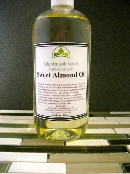 Sweet Almond Oil from www.glenbrookfarm.com
