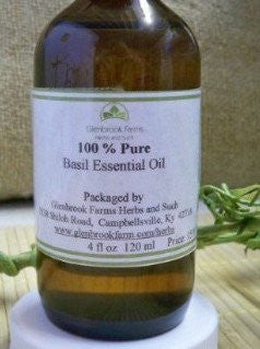 Bottle of Basil oil