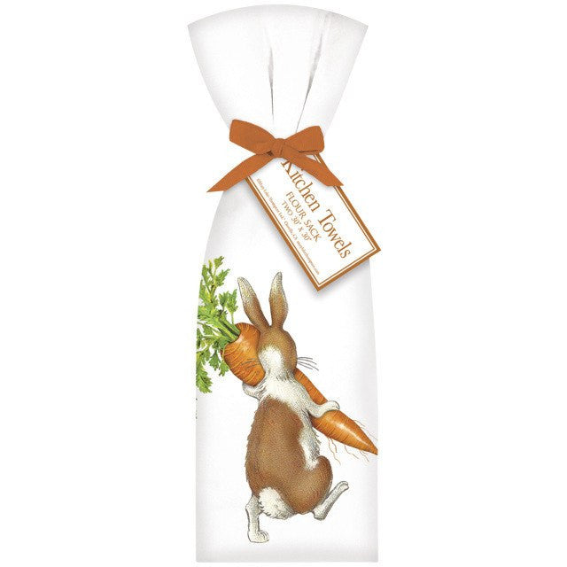 Naughty Bunny Flour Sack towels from glenbrookfarm.com