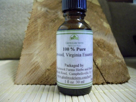 Cedarwood Virginia Essential Oil from www.glenbrookfarm.com