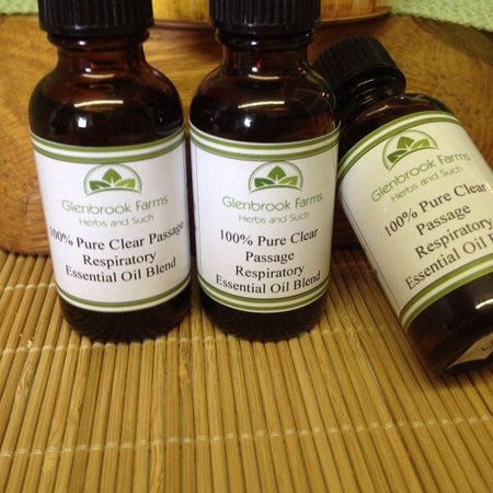 Clear Passage Essential oil blend from www.glenbrookfarm.com