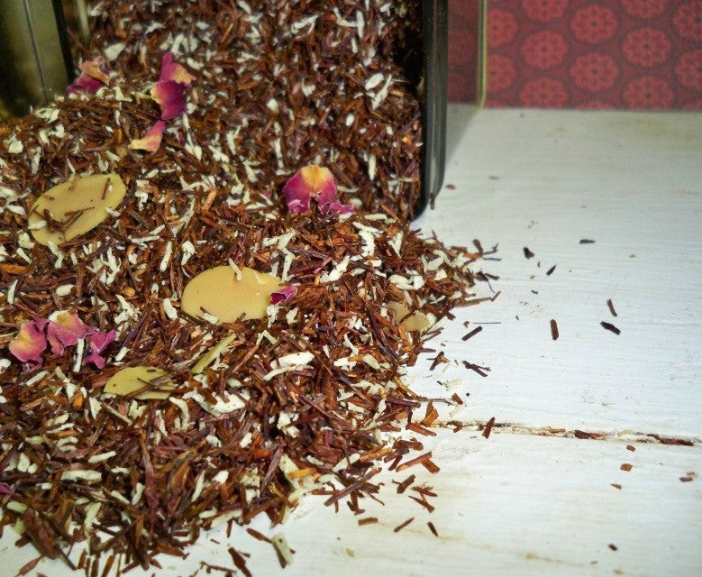 Coconut Almond Rooibos tea from glenbrookfarm.com