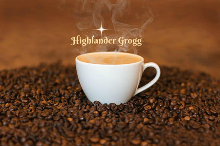 cup of coffee called highlander grogg