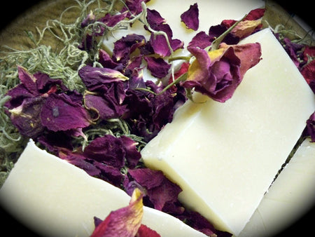 bar of soap with roses