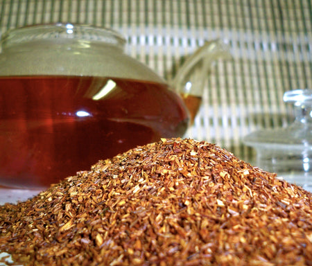 African Rooibos tea and teapot