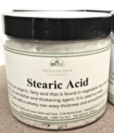 jar of stearic acid