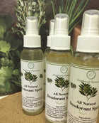 All Natural Deodorant Spray bottle