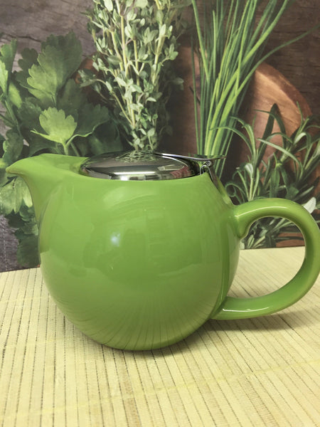 lime colored tea pot