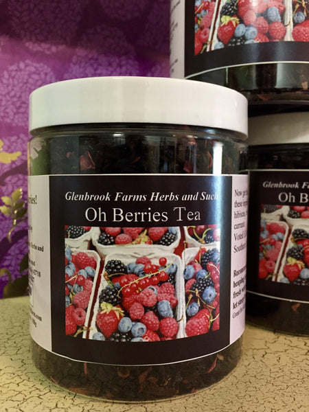 canister of oh berries tea