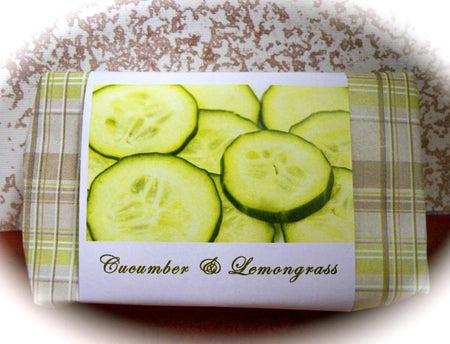 Cucumber and Lemongrass glycerin soap