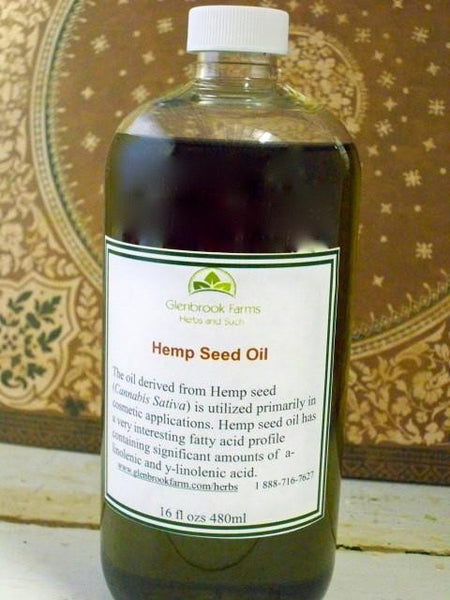 bottle of hemp oil