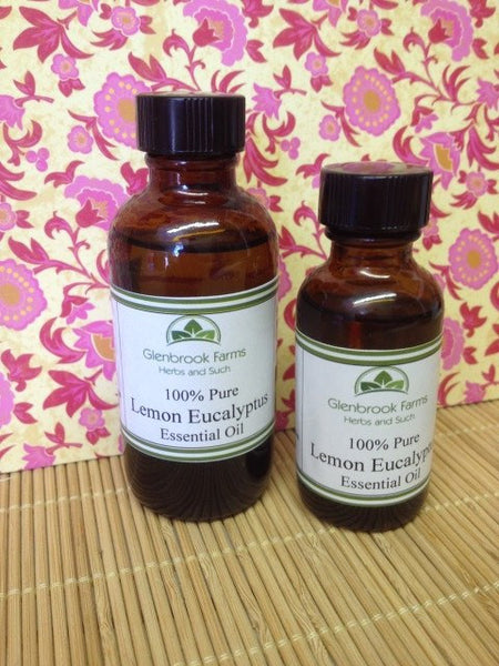 Lemon Eucalyptus Essential oil from glenbrookfarm.com suppliers of pure essential oils