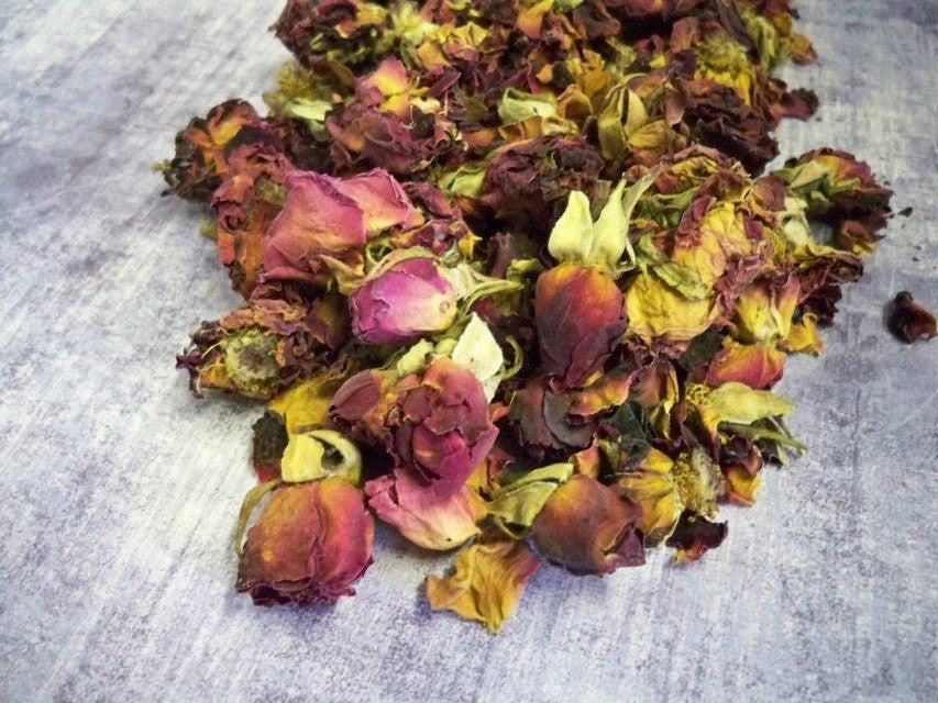 Dried Red Rosebuds from glenbrookfarm.com