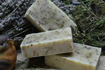 Rosemary Hand Scrub Soap from www.glenbrookfarm.com