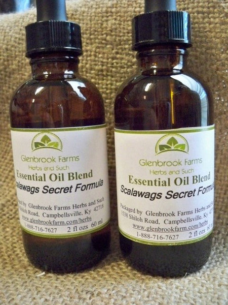 Scalawags Essential oil blend like thieves from www.glenbrookfarm.com
