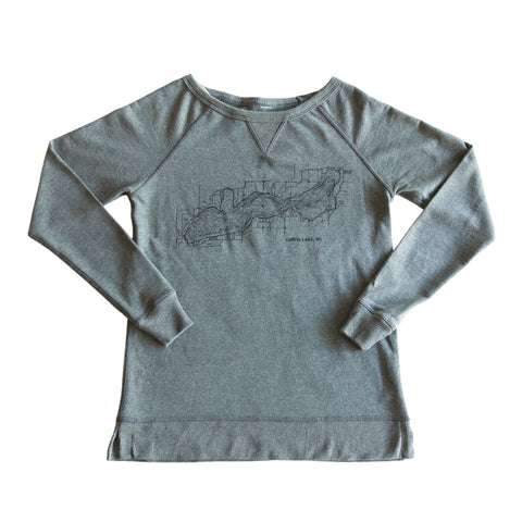 Women's Charcoal Grey Crew Neck Sweater