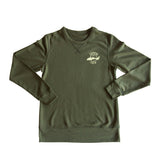 Men's Military Green Crew Neck Sweater