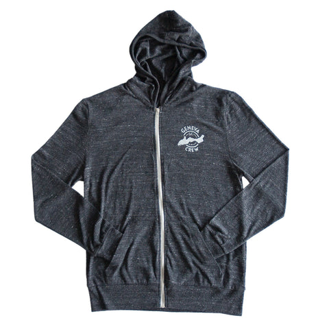 Lightweight Black Zip-Up Hoodie