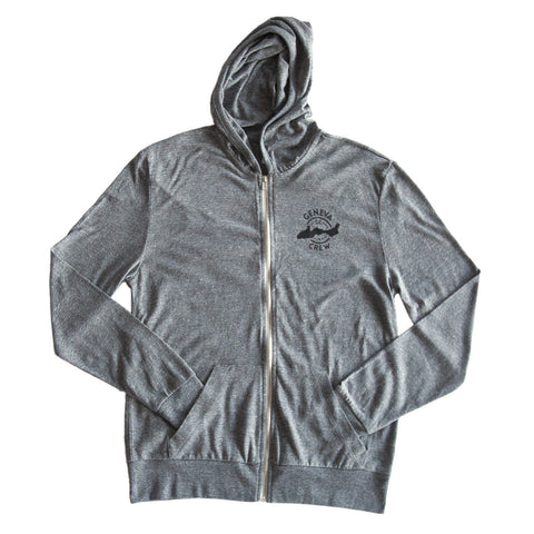 Lightweight Grey Zip-Up Hoodie