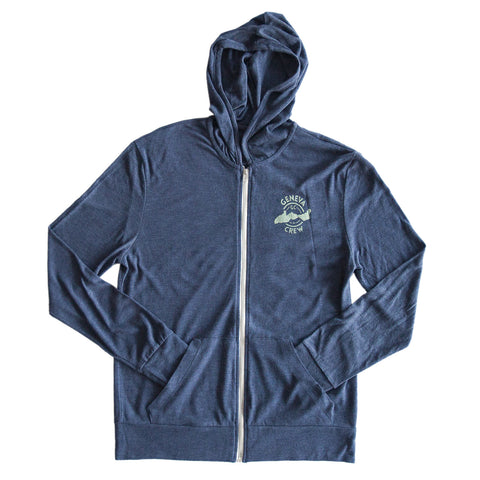 Lightweight Navy Zip-Up Hoodie