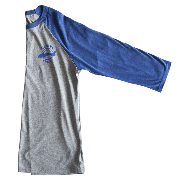 Grey/Navy Triblend Baseball Shirt