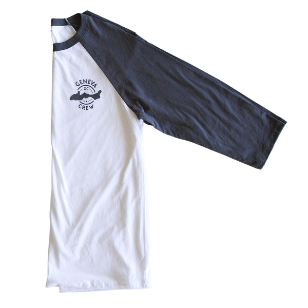 White & Asphalt Two Tone Baseball Shirt