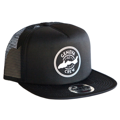 Black Geneva Crew Trucker Hat