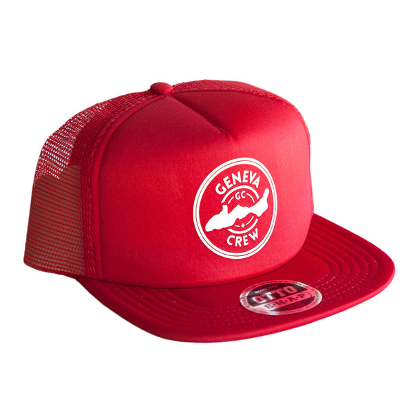 Badger Red Geneva Crew Trucker Hat