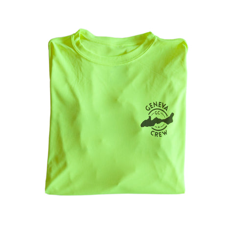 Caution Yellow Long-Sleeved Water Shirt