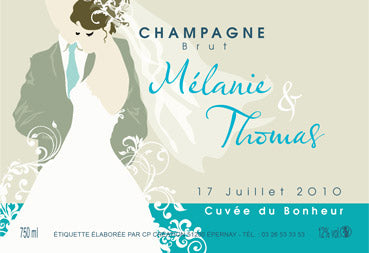 Champagne Robert-Allait: personalized labels for magnums