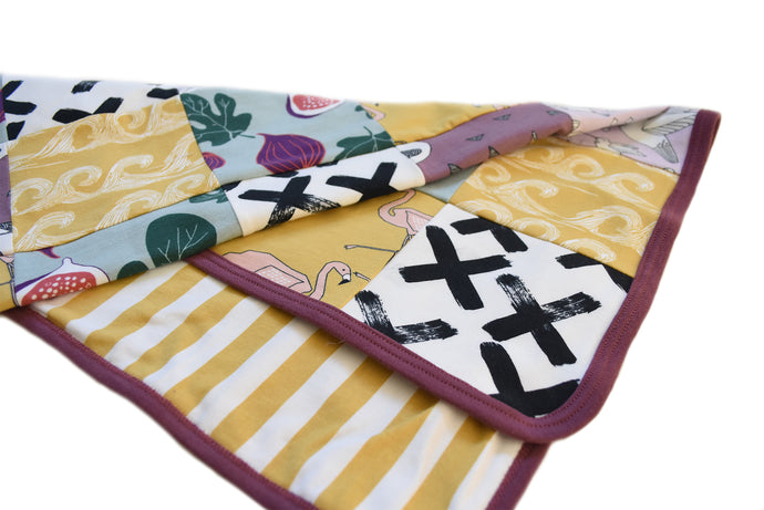 How to sew a patchwork blanket or baby blanket