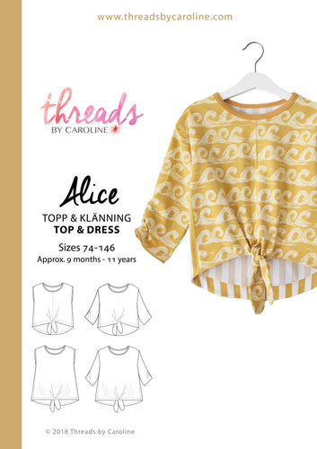 Alice top & dress - printed (English)