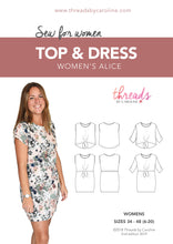 Women's Alice top & dress - digital (English)