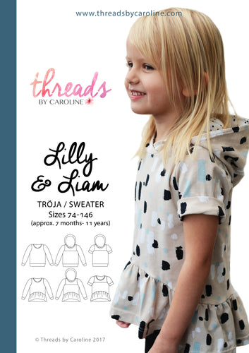 Lilly & Liam sweater - printed (English)