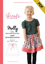 Molly skirt with waist ruffle - digital (English)