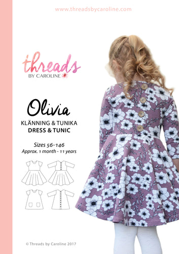 Olivia dress & tunic - printed (English)