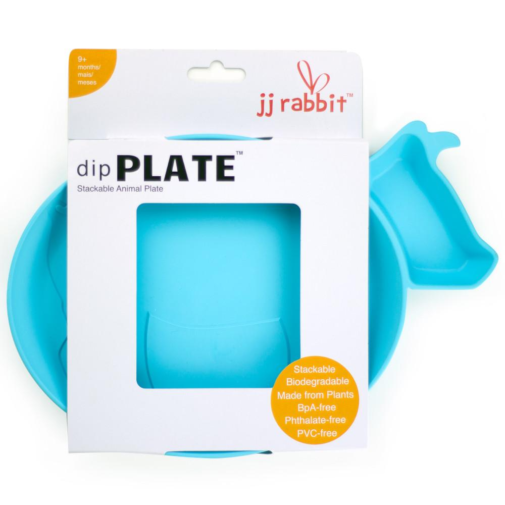 JJ Rabbit® dipPLATE™ in Sea Life blue packaged