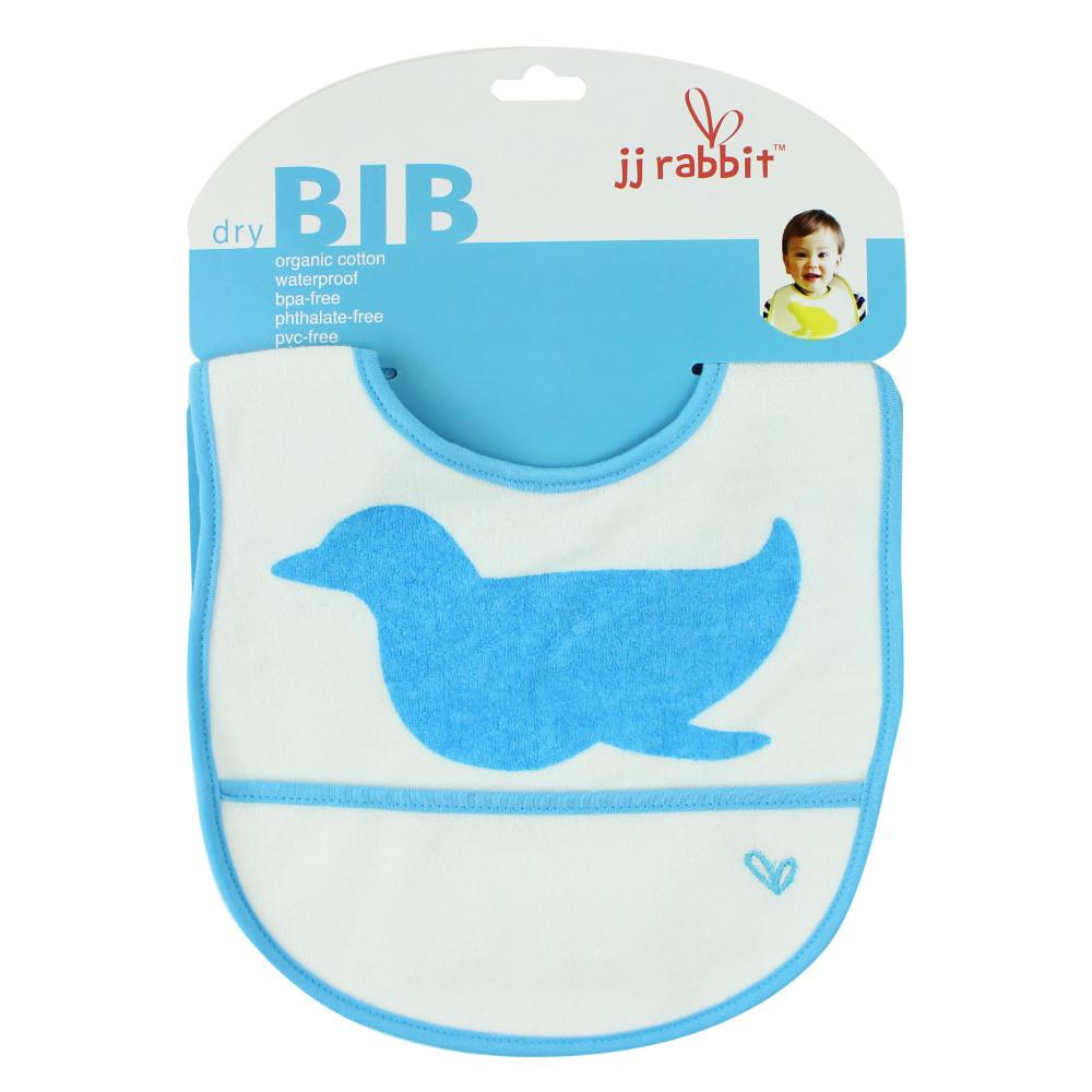 JJ Rabbit® dryBIB™ organic cotton bib in Sea Life blue
