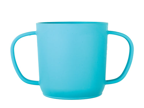 JJ Rabbit® CUPPIES® transitional training cups in Penguin Sea Life blue color (side view)