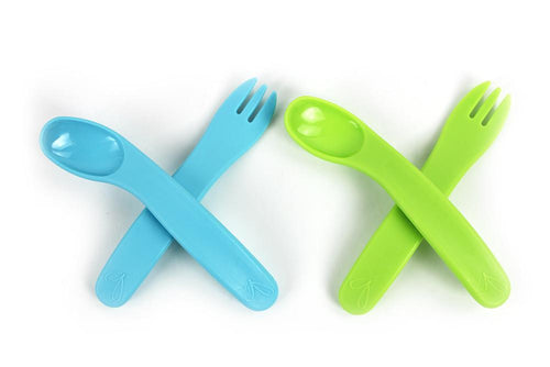 ergoFORK+SPOON™ (2 sets - Blue and Green)