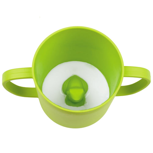 JJ Rabbit® CUPPIES® transitional training cups in Frog Lime Pop Green color