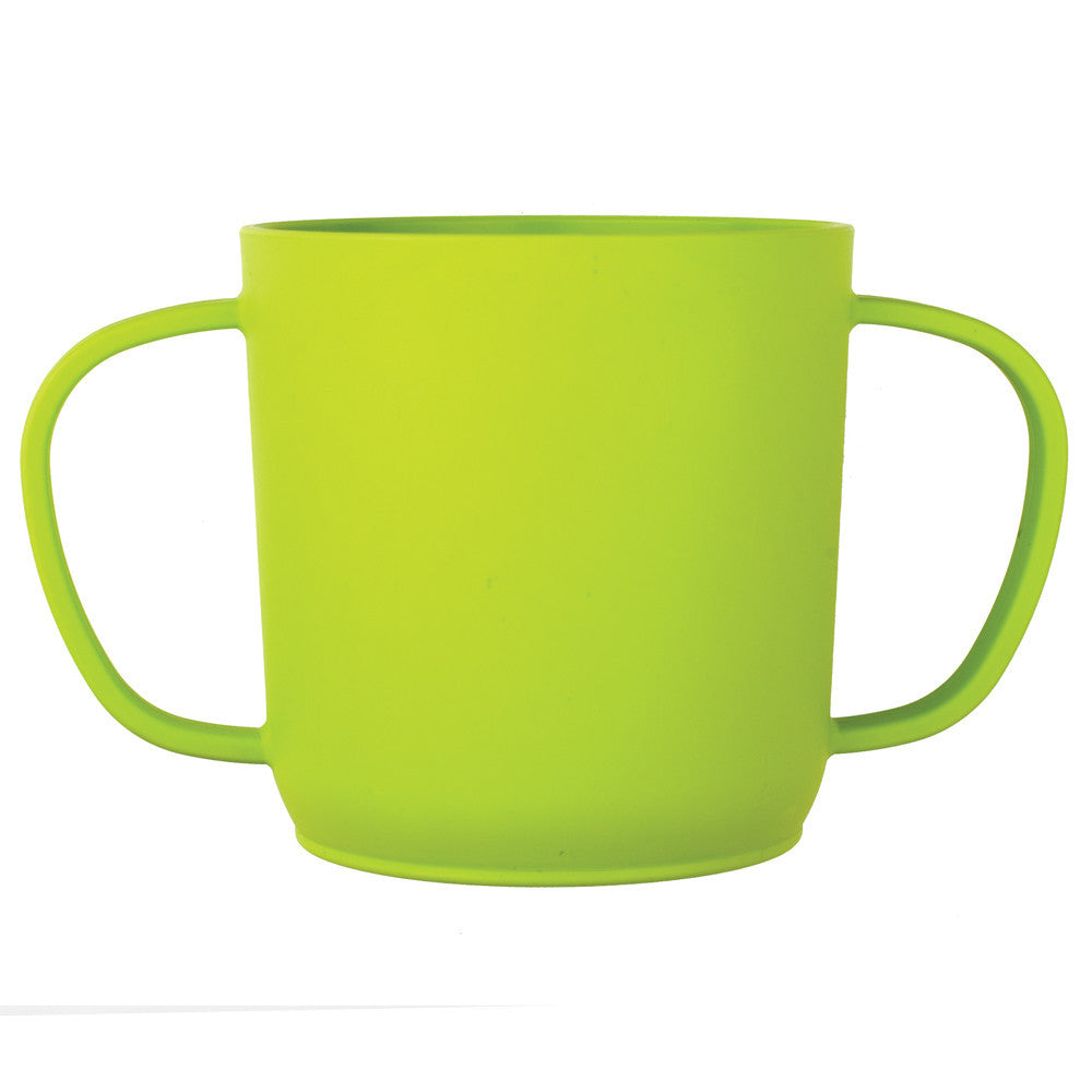 JJ Rabbit® CUPPIES® transitional training cups in Frog Lime Pop Green color (side view)