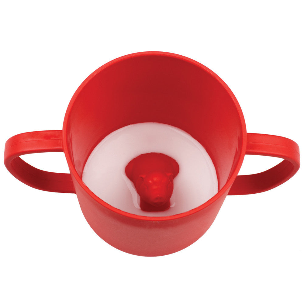 JJ Rabbit® CUPPIES® transitional training cups in Piglet Wet Coral red color