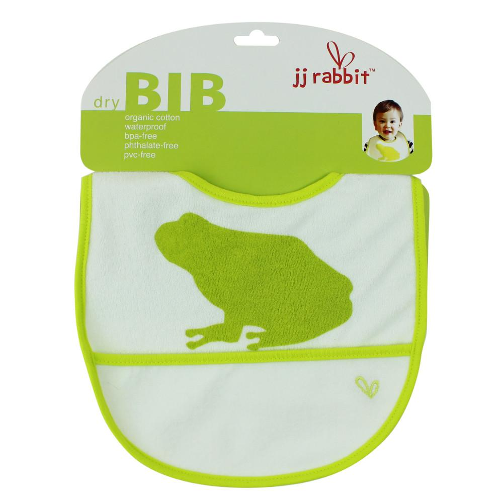 JJ Rabbit® dryBIB™ organic cotton bib in Lime Pop green color